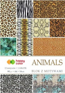 Blok z motywami do scrapbookingu A4 - Animals